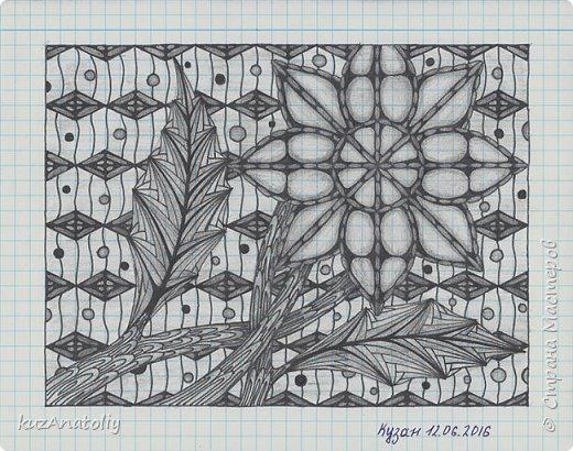 Зентангл - Цветок