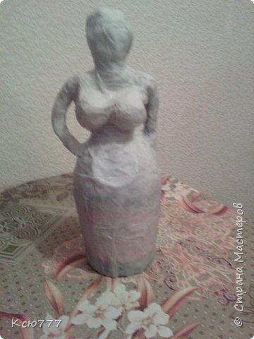 В пару моей первой скульптурке родилась вот такая колоритная дама)) фото 6