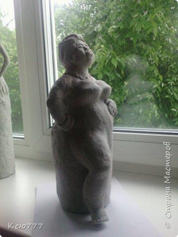 В пару моей первой скульптурке родилась вот такая колоритная дама)) фото 8