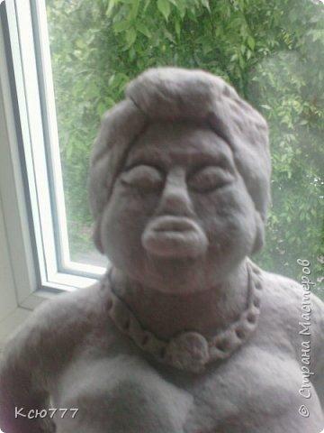 В пару моей первой скульптурке родилась вот такая колоритная дама)) фото 9