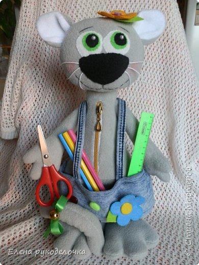 Здравствуйте жители СМ. Сегодня я хочу показать вам несколько игрушек. Этого котика я делала для знакомой. В садике попросили поделку, а рукодельничать она не умеет. Вот и попросила меня ей помочь. Котик 39см. фото 3