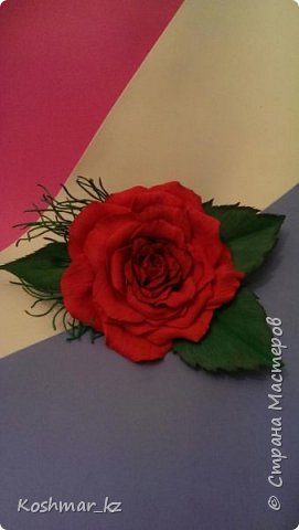 Брошь-заколка (цвет и цветок на Ваш выбор) фото 2