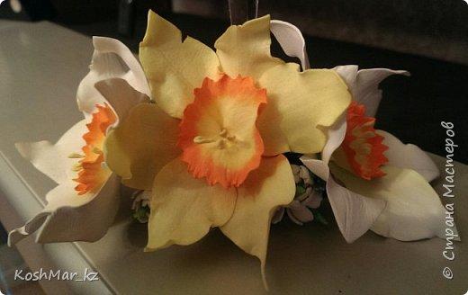 Крабик с пышными цветами (цвет на Ваш выбор) фото 4
