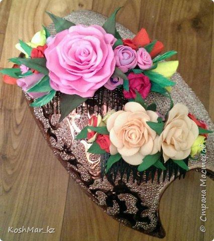 Крабик с пышными цветами (цвет на Ваш выбор) фото 7