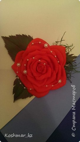 Брошь-заколка (цвет и цветок на Ваш выбор) фото 1