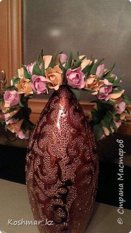 """Ободок (венок) """"Нежность"""" - нежнейшие бутончики роз из светло-розового и персикового цветов фото 1"""