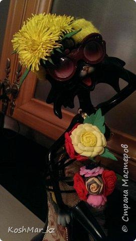 Крабик с пышными цветами (цвет на Ваш выбор) фото 6