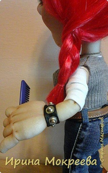 Сегодня закончила делать интересную куклу - девушку неформалку парикмахера . Выношу на ваш суд. фото 4