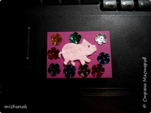 """мои первые работы в этом году открытку делала для игры """"Стрелы Амура"""", посылку отправляла давно, скорее всего она уже  пришла, так что думаю, что я вполне могу выложить содержимое сюда. фото 36"""