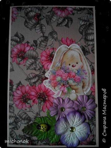"""мои первые работы в этом году открытку делала для игры """"Стрелы Амура"""", посылку отправляла давно, скорее всего она уже  пришла, так что думаю, что я вполне могу выложить содержимое сюда. фото 39"""