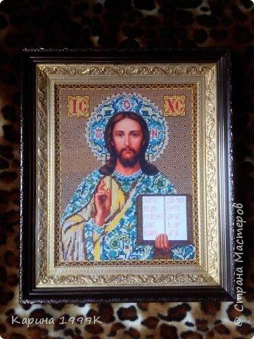 """""""Иисус Христос"""" Размер:38,5*45,5(без рамки). фото 3"""
