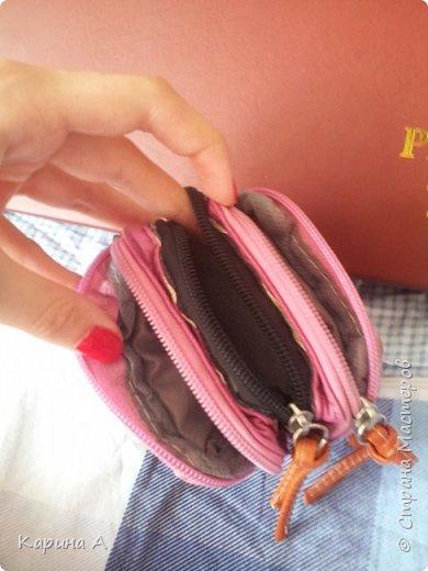 Привет! Где-то недели 2 назад сделала вот такую косметичку из старой сумки. фото 2