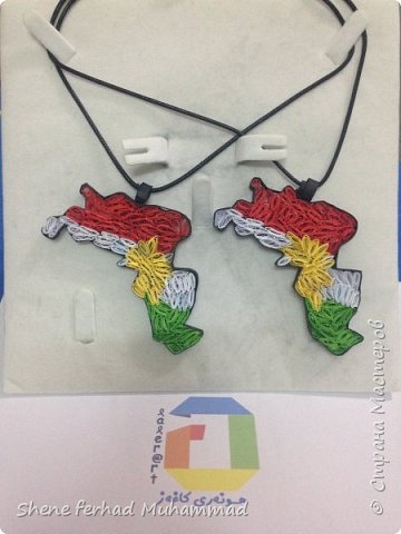 kurdistan flag and map фото 1