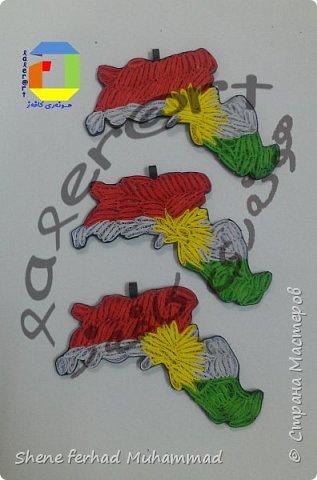 kurdistan flag and map фото 3