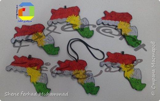 kurdistan flag and map фото 2