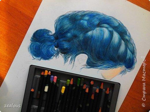 голобые волосы