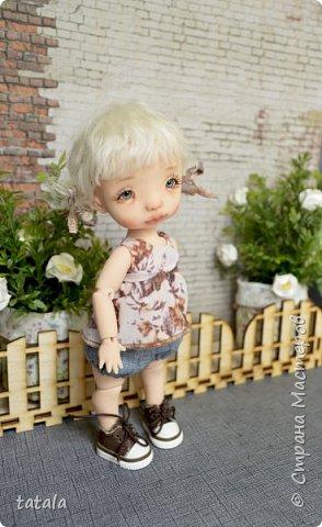 Всем привет!!! Хочу показать вам новую девочку… Ростик 19 см, сделана из фимо классик . Приятного просмотра))  фото 6