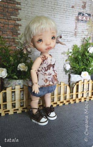 Всем привет!!! Хочу показать вам новую девочку… Ростик 19 см, сделана из фимо классик . Приятного просмотра))  фото 2