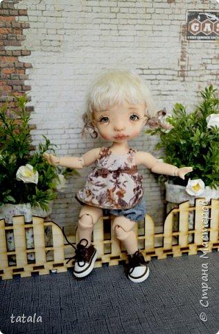 Всем привет!!! Хочу показать вам новую девочку… Ростик 19 см, сделана из фимо классик . Приятного просмотра))  фото 3