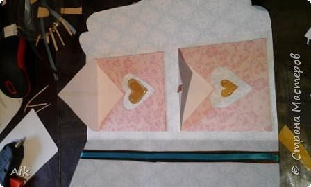 Мой первый конвертик изготовленный для подарка ко дню бракосочетания. цвет лент в тонах цветовой гаммы  на свадьбе (по крайней мере очень близко к оригинальной).  фото 10