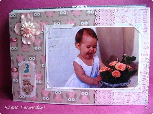 """Альбомчик сделан из бумаги Скрапмир """"Baby Girl"""" и листочка для вырезания от Scrapberrys. В очередной раз делаю по этому МК http://scrapology.ru/master-class-album-econom/  Предыдущие альбомы можно глянуть тут http://stranamasterov.ru/node/1000319 этот мник без раскладушек для фото-просто подложки, просто уголки. фото 10"""