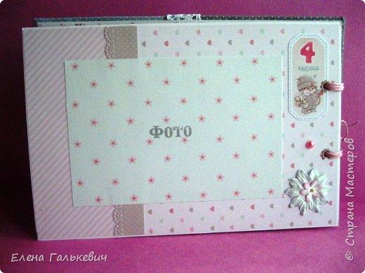 """Альбомчик сделан из бумаги Скрапмир """"Baby Girl"""" и листочка для вырезания от Scrapberrys. В очередной раз делаю по этому МК http://scrapology.ru/master-class-album-econom/  Предыдущие альбомы можно глянуть тут http://stranamasterov.ru/node/1000319 этот мник без раскладушек для фото-просто подложки, просто уголки. фото 12"""