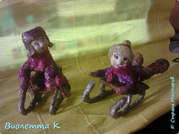 Вот такая девочка с муфточкой получилась.. По мотивам старинных немецких игрушек... фото 7