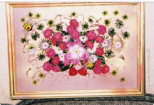 """Добрый день. Десять лет назад я закончила курсы флордизайна и первое время очень любила делать картины из искусственных цветов, бусин, ракушек. Сейчас творю в этой технике редко. Представляю свои любимые работы. Первая-""""Морская"""" фото 2"""