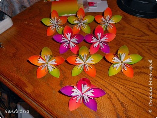 Цветы оригами фото 6