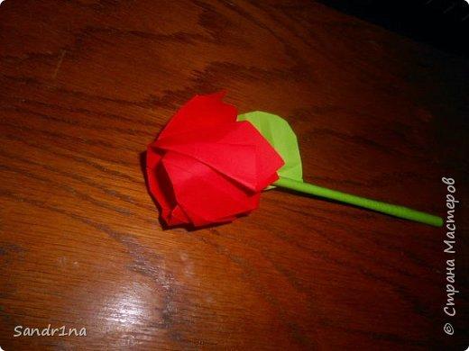 Розы оригами фото 1