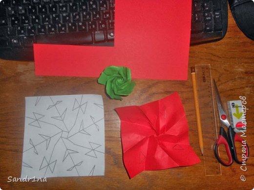 Розы оригами фото 4