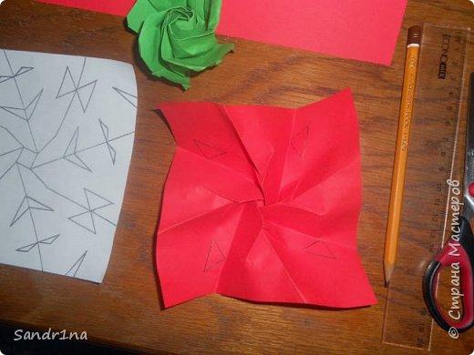 Розы оригами фото 5