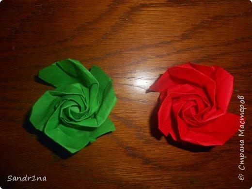 Розы оригами фото 3