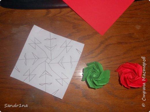Розы оригами фото 6