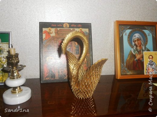 Лебеди и другие животные оригами модульное фото 4