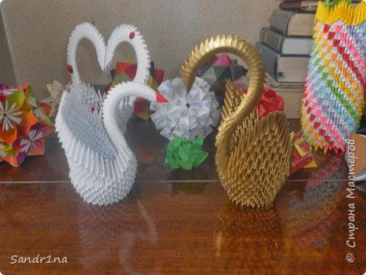 Лебеди и другие животные оригами модульное фото 2