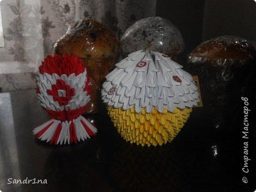 Кулич и яйцо оригами модульное фото 2