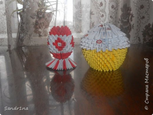 Кулич и яйцо оригами модульное фото 3