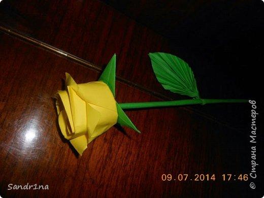 Розы оригами фото 7
