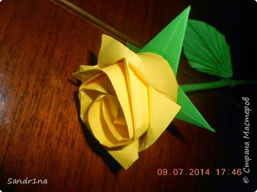 Розы оригами фото 8