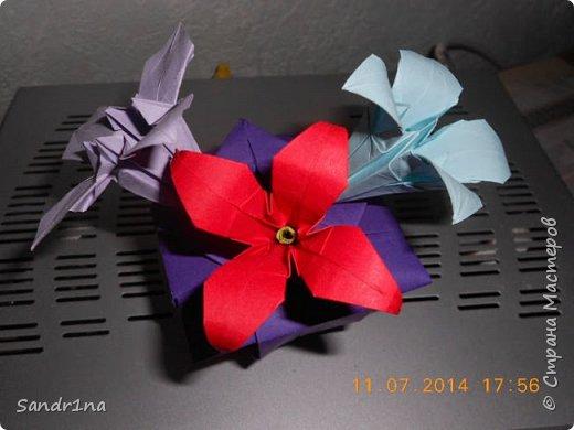 Оригами вазочки с цветами фото 9