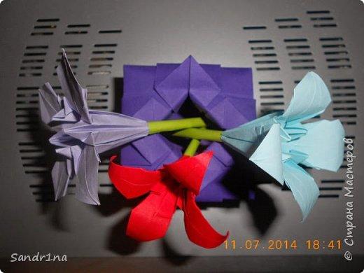 Оригами вазочки с цветами фото 8