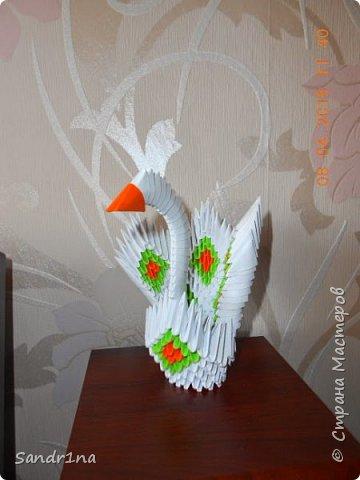 Лебеди и другие животные оригами модульное фото 8
