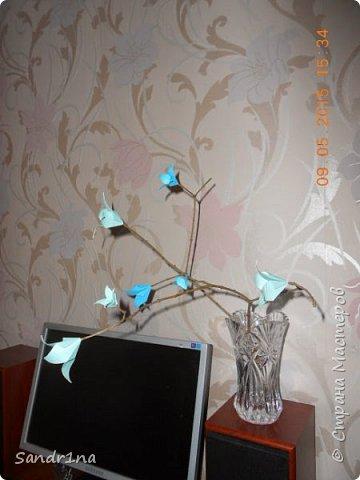 Ветка с колокольчиками оригами фото 3