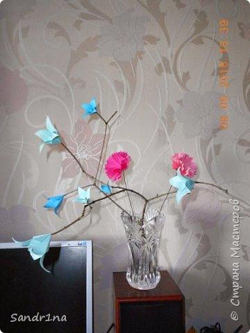 Ветка с колокольчиками оригами фото 1