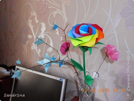 Ветка с колокольчиками оригами фото 4