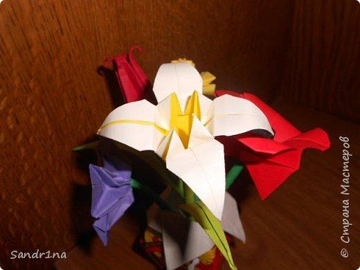 Оригами вазочки с цветами фото 5