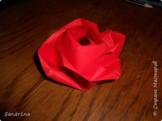 Розы оригами фото 11
