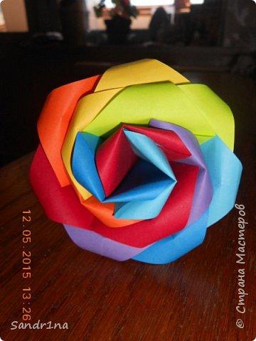 Розы оригами фото 16