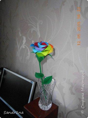 Розы оригами фото 15